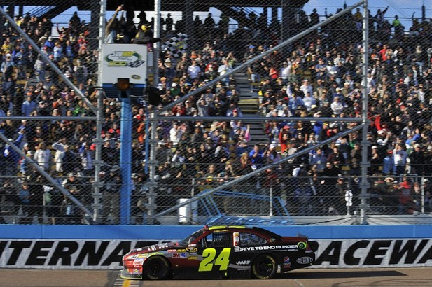 jeff gordon phoenix 2011. Jeff Gordon celebrates after