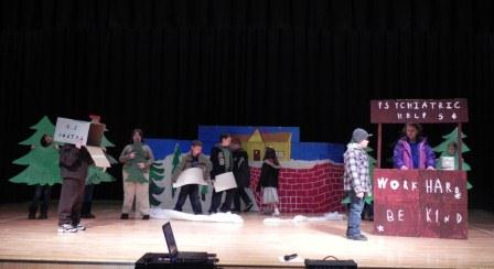 Students perform a charlie brown christmas gantnews com