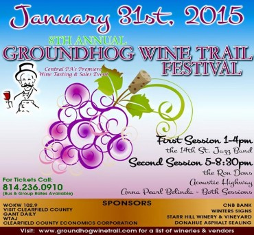Last Chance:  Win Tickets to the Groundhog Wine Trail Evening Session