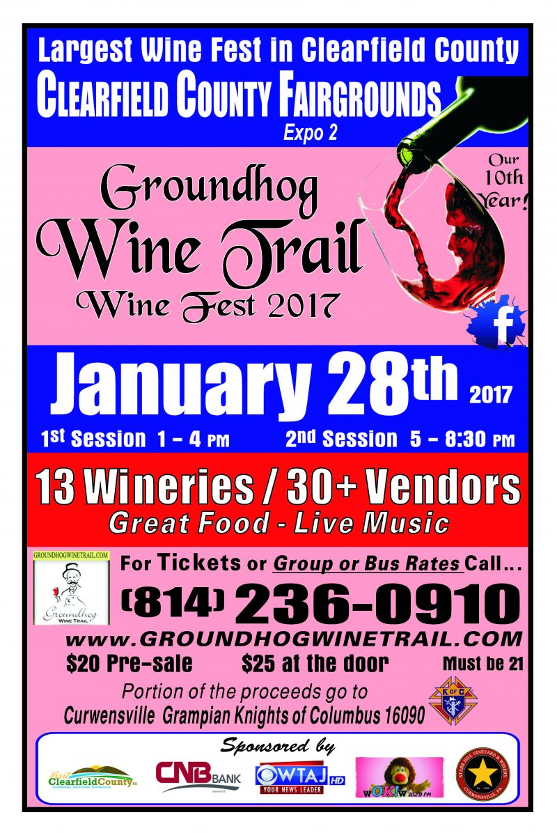 GANT Contest:  Enter to Win 2 Tickets to Groundhog Wine Fest 2018