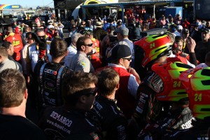 Not even NASCAR officials could break up the chaos in the garage between the No. 15 and No. 24 teams.  The Arizona police force had to get involved.