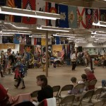 Pictured is the dance circle as part for the Clearfield Veterans Day Powwow at the Expo 2 Building at the Clearfield Driving Park.