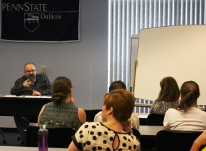 Penn State DuBois Associate Professor of English Tony Vallone teaches a sample college course for middle and high school students during the Gifted Workshop. (Provided photo)
