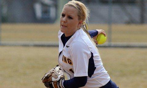 Holly Lansberry tossed a non-no for Lycoming last week (Photo courtesy Lycoming Athletic Dept.)
