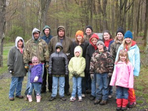 Volunteers participate in a cleanup event at the Curwensville Lake Recreation Area. (Provided photo)