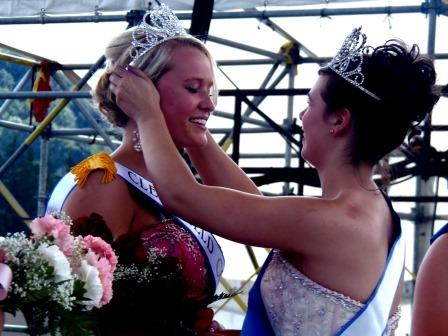 Taylor Rae Goodman, 18, of Curwensville being crowned the Clearfield County Fair Queen. (Photo by Jessica Shirey)