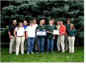 The Clearfield County 4-H Agricultural Safety and Health Quiz Bowl team competed at the 2013 Ag Progress Days.  Shown in the photo are, from left to right in the front row, financial sponsor Tess Weigand, MidAtlantic Farm Credit; team coach Rose Nelen of Luthersburg; team members Randy Nelen of Luthersburg, Jon Stephens of Clearfield, PA Deputy Secretary of Agriculture Jay Howes; 4-H State Council Officer Kaitlin Roger.  In the back row are financial sponsors Bill Jackson, AgChoice Farm Credit, Jim Rashford, CNH America, Tony Resh, CNH America; team members Shawn Nelen of Luthersburg, Reuben Hicks of DuBois; financial sponsor Zack Leve, Farm Family Insurance; 4-H State Council Officer Nathan Bepetz. (Provided photo)