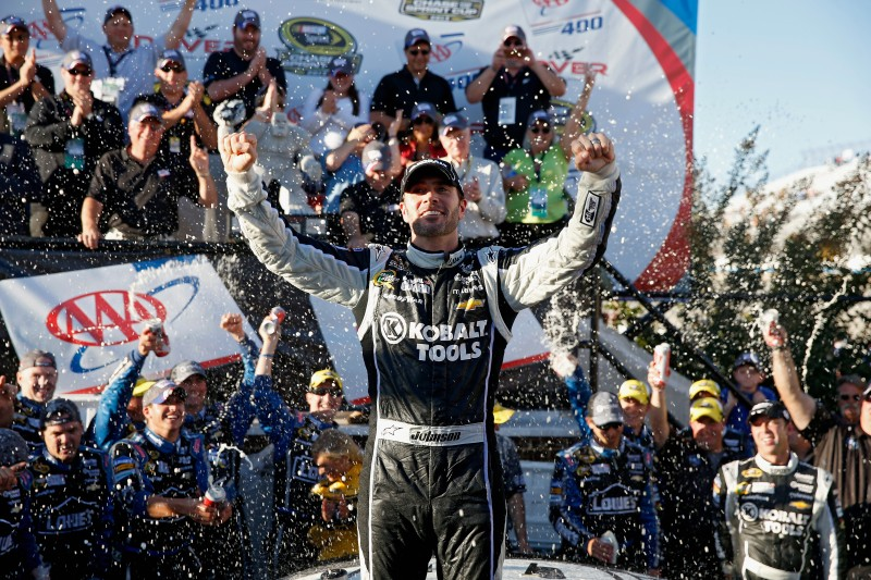 """He's back...Jimmie Johnson returned to victory lane, winning at the """"Monster Mile"""" in Dover."""
