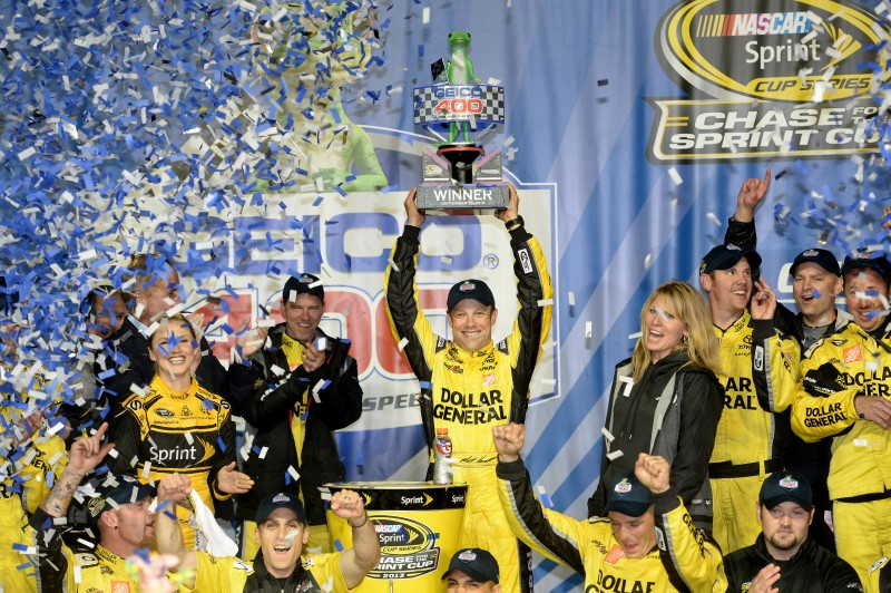 It has been a crazy week in NASCAR, and it was capped off by a late night at Chicagoland Speedway.  Luckily, a familiar man won in the end.