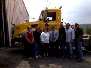 Pictured are Debbie Harzinski, Chet Shugerts, Danielle Prebe, Derek Walker, John Gabler, Andy Spencer and Tim Gallaher. (Provided photo)