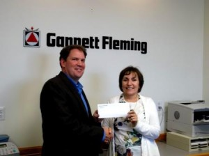 Pictured are Jeffrey Ream, G.F. regional manager in Clearfield and Jane French, HCT executive director. (Provided photo)