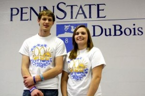 Pictured are 2014 Penn State DuBois THON Dancers Evan Aravich and Jessica Metzger. (Provided photo)
