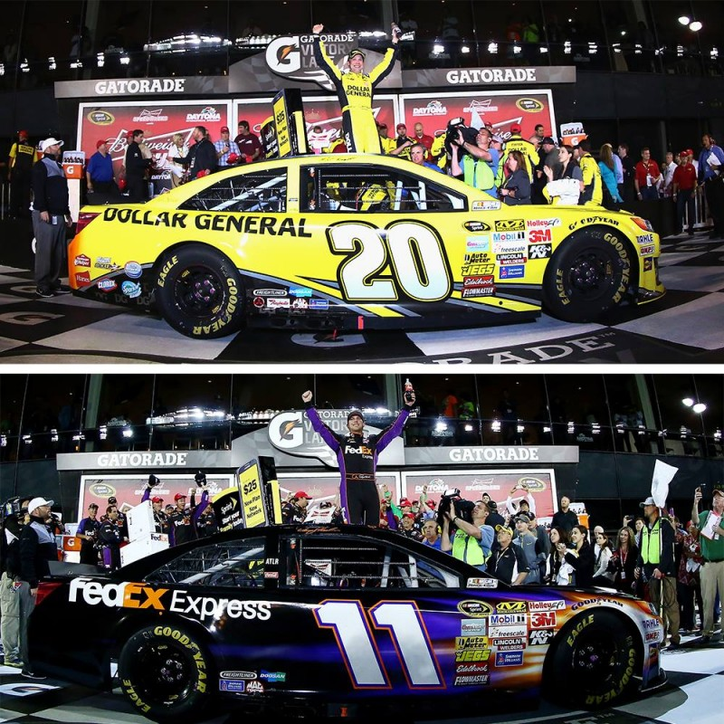 Joe Gibbs Racing is on a roll at Daytona, as teammates Kenseth and Hamlin capture the duels.