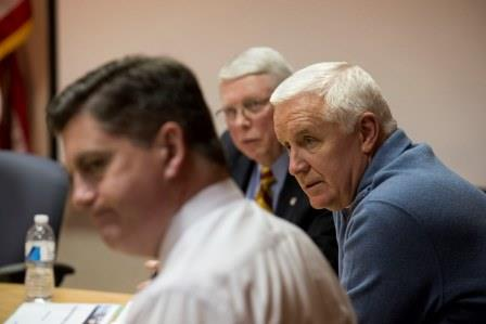 Gov. Tom Corbett tonight met with officials from PEMA and other state agencies to discuss the latest information on the winter storm forecasted to move through Pennsylvania. (Provided photo)
