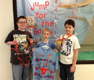 Pictured from Sykesville are James Becker, Gage Sonnie and Henry Haag. (Provided photo)