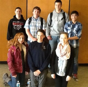 Shown are members of the DAHS Science Team that competed at the American Chemical Society (ACS) Regional Chemistry Olympiad held in State College on March 21. In the front row, from left, are Kayla Brennan, Emily Krise and Melanie Umbaugh. In the back row, from left, are Josh Hnat, Noah Orner, Gabe French and Neil Rajan. (Provided photo)