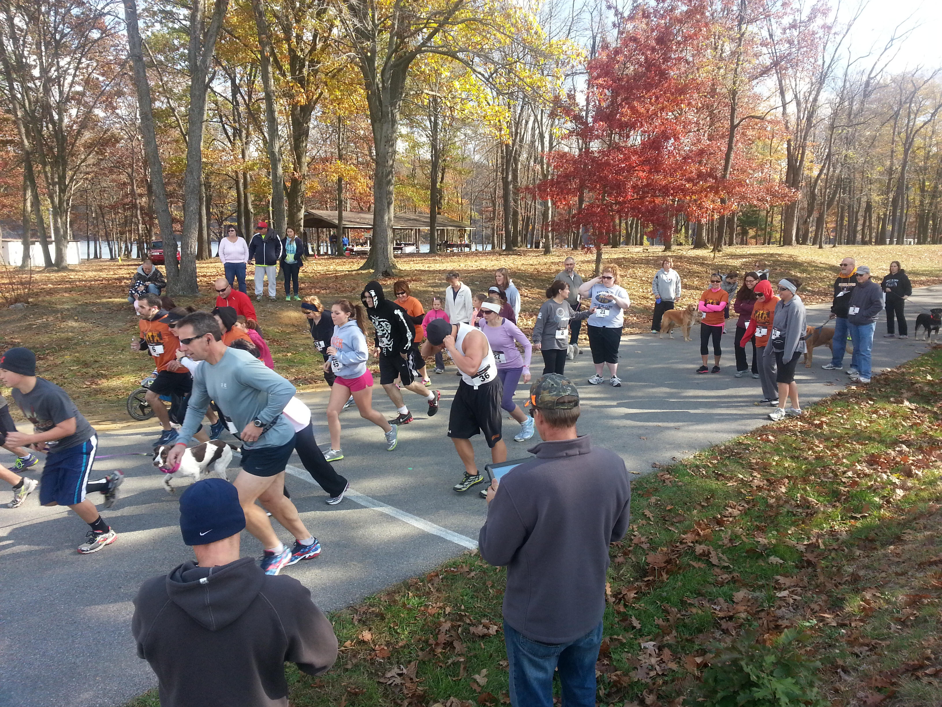 Pictured are runners and pets from the 5K last year. (Provided photo)