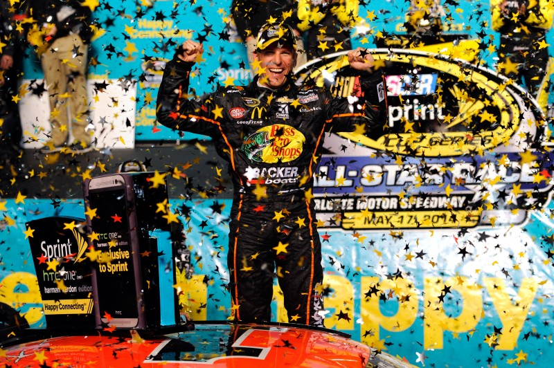 An intense battle on the final restart gave an emotional Jamie McMurray his first All-Star Race win, plus a $1 million check.