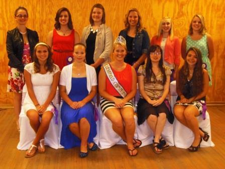 Fair Queen Contestants Introduced at Banquet