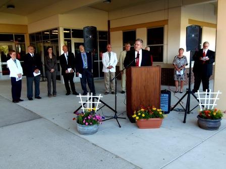 Administrators Dedicate New Clearfield Junior-Senior High School
