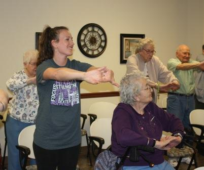 Students Help Personal Care Residents 'Move Strong'