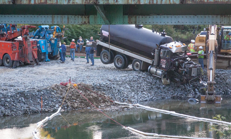 Police Investigate Crash Involving 2 Tankers in Shawville