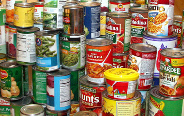 Canned Foods In Boxes