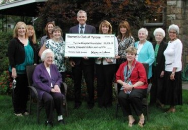 Women's Club of Tyrone Makes Donation to Support Women's Health Services