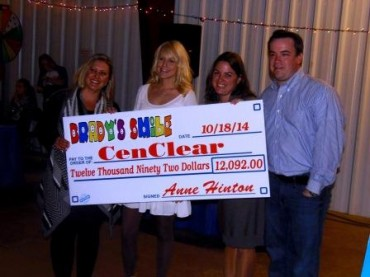Brady's Smile Presents Cen-Clear with $12K for Therapy Clinic at Fundraiser