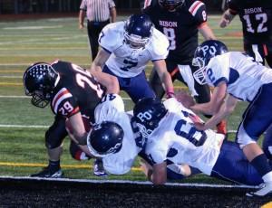 Senior running back Curtis Daub scored his first touchdown of the year on Senior Night 2014 (Photo by Logan Cramer III)