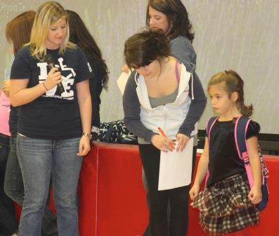 OT Students Bring Backpack Safety to Elementary School