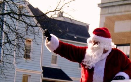 Santa Claus Comes to Downtown Clearfield on Saturday