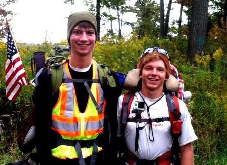 Seattle Duo Passes through Clearfield on Cross-Country Walk for Children's Hospital