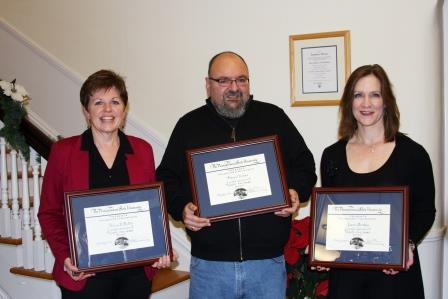 Three Honored for 25 Years of Service at Campus
