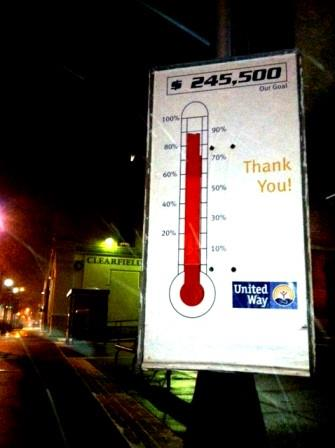 Clearfield United Way Campaign Reaches 89% Mark
