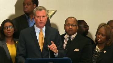 NYC mayor: Attack on police is an attack on all New Yorkers