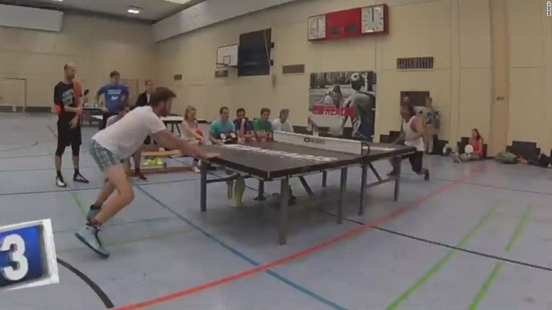 VIDEO: Sport combines soccer and table tennis