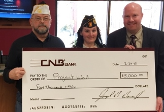 CNB Donates to Veterans Honor Roll Wall Project
