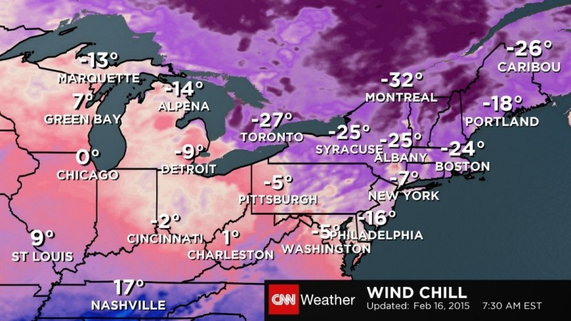 Winter spreads its reach from Northeast to South and beyond