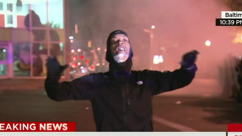 Baltimore man arrested on live TV wants demonstrations to stay peaceful