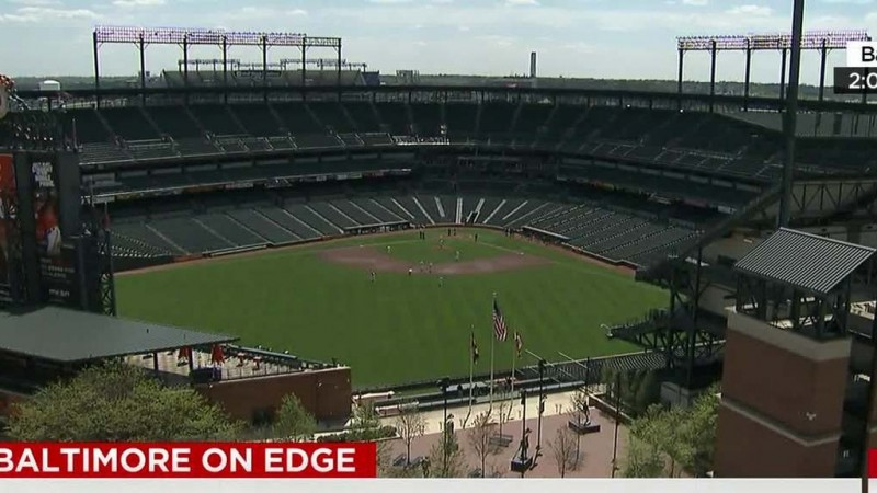 No cheers, boos — or fans — at Baltimore Orioles game