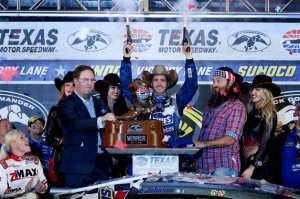 For the fifth time in his career, Jimmie Johnson fired the pistols in victory lane at Texas.