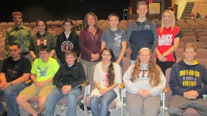 Participants in the national math competition held at Clearfield are, from left: back row: Josh Anstead, Katlyne Fye, Herschel Johnson, Teacher Judi Bookhamer, Elliot Thorp, Caleb Strouse and Alana Kochan. In front row are: Matt Rowles, Zach Owens, Devin Carns, Diane Thompson, Sarah Hazel and Kerry Maines. Missing from the photo are: Thad Butler, Sarah Snyder, Ashley Struble, Sabrina Wimer, Sierra Luzier and Macy Forrest. (Provided photo)