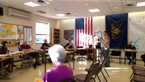 Local Eagle Scout William Boyle updated DuBois City Council on his project and invited members to bridge dedications on June 8. (Photo by Steven McDole)