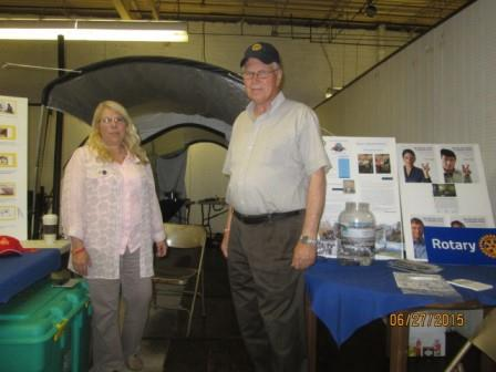 Rotarians Showcase Temporary Disaster Shelter, Tent at Bloom & Berry Bash
