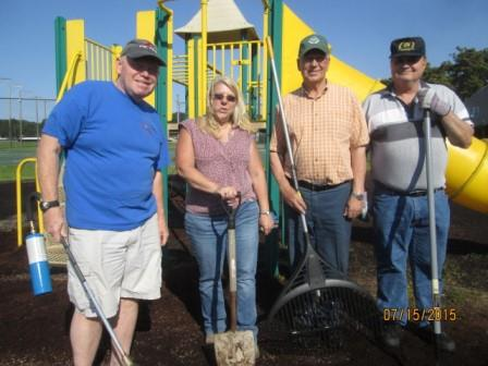 Clearfield Rotarians Make Playground Improvements at Clearfield Driving Park
