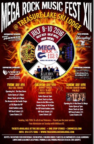 Last Chance:  Enter to Win Tickets to Mega Rock Music Fest 2016