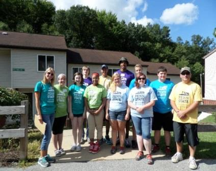 Penn State DuBois Help CPCA during Community Outreach Day