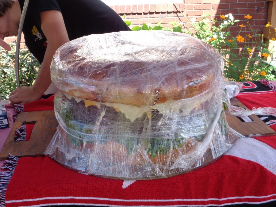 Denny's Delivers 155-Pound Burger to Parade Attendees