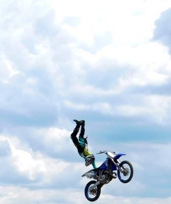 PHOTOS: FMX Bike Stunt Show Soars through Clearfield Fair
